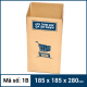 Thùng Carton gói hàng kích thước 185x185x280mm mẫu giỏ hàng-3