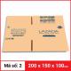 Thùng Carton gói hàng kích thước 200x150x100mm-1