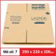 Thùng Carton gói hàng kích thước 250x220x200mm-4