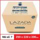 Thùng Carton gói hàng kích thước 250x220x200mm-2