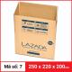 Thùng Carton gói hàng kích thước 250x220x200mm-6