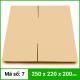 Thùng Carton gói hàng kích thước 250x220x200mm không in-1