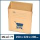Thùng Carton gói hàng kích thước 250x220x200mm mẫu giỏ hàng-3
