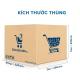 Thùng Carton gói hàng kích thước 250x220x200mm mẫu giỏ hàng-5