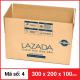 Thùng Carton gói hàng kích thước 300x200x100mm-3