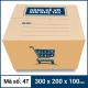Thùng Carton gói hàng kích thước 300x200x100mm mẫu giỏ hàng-2
