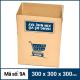 Thùng Carton gói hàng kích thước 300x300x300mm mẫu giỏ hàng-5