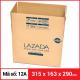 Thùng Carton gói hàng kích thước 315x163x290mm-2