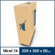 Thùng Carton gói hàng kích thước 320x300x90mm mẫu giỏ hàng-3