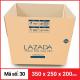 Thùng Carton gói hàng kích thước 350x250x200mm-2