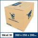 Thùng Carton gói hàng kích thước 350x250x200mm mẫu giỏ hàng-1