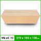 Thùng Carton gói hàng kích thước 370x105x130mm không in-3