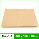 Thùng Carton gói hàng kích thước 400x350x100mm không in-3