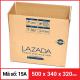 Thùng Carton gói hàng kích thước 500x340x320mm-4