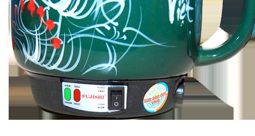 Ấm sắc thuốc bắc bằng điện Fujishi 3.2 Lít màu Xanh Lục