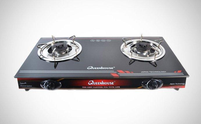 Bếp gas dương mặt kính Queenhouse QH-207