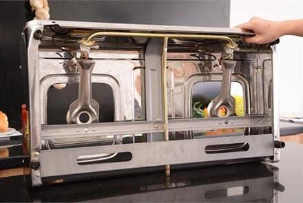 Bếp gas dương Sakura SA-742AS - Điếu Inox