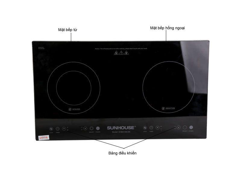Bếp hồng ngoại và điện từ Sunhouse SHB9106-ES-3