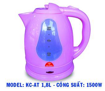 Bình đun siêu tốc Kim Cương KC-AT 1.8L màu tím