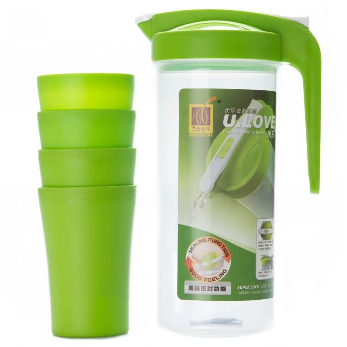 Bộ bình nhựa có 4 ly U.LOVE-1