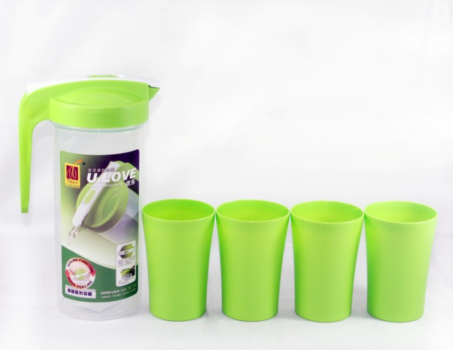 Bộ bình nhựa có 4 ly U.LOVE-2