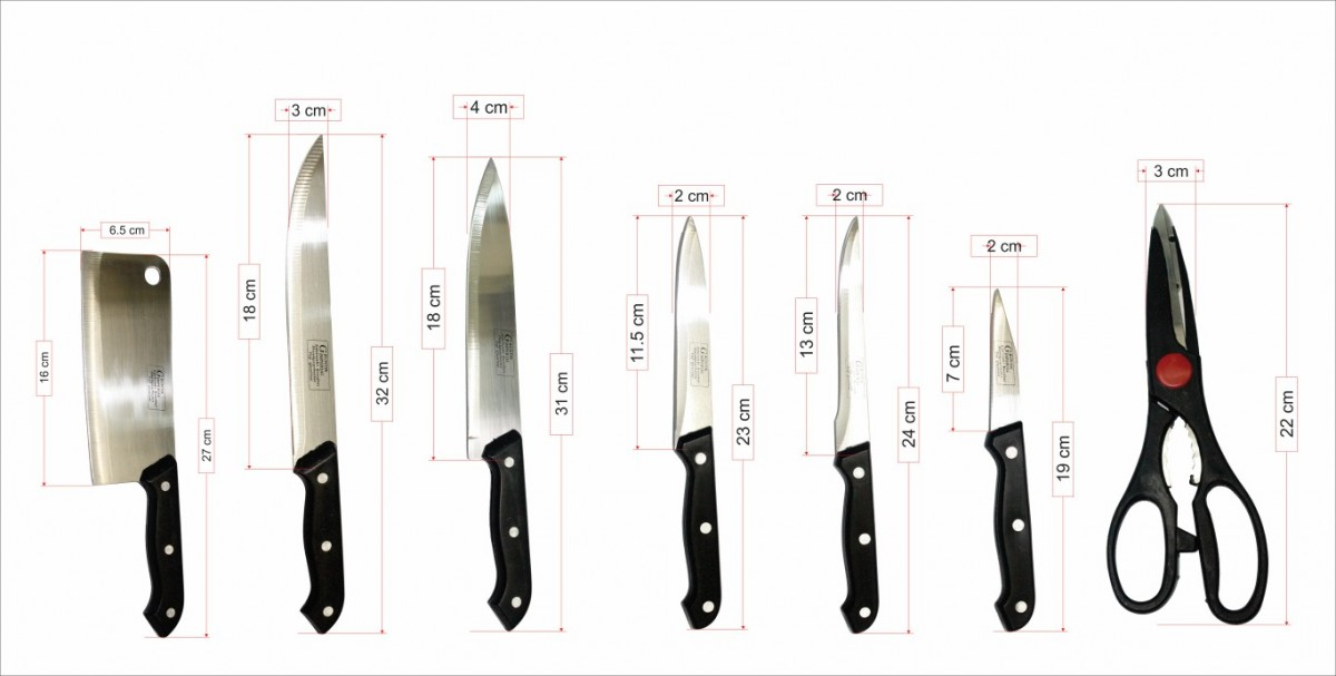 Bộ dao kéo làm bếp 8 món Chuanghui FE.01-001