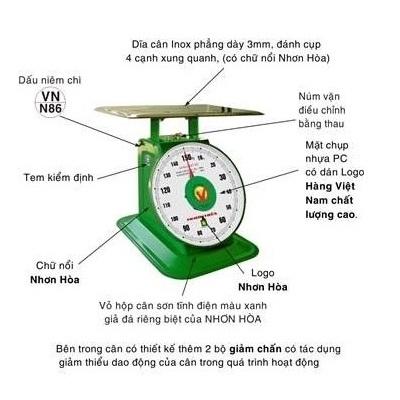 Cân đồng hồ lò xo Nhơn Hòa 60Kg NHS-60