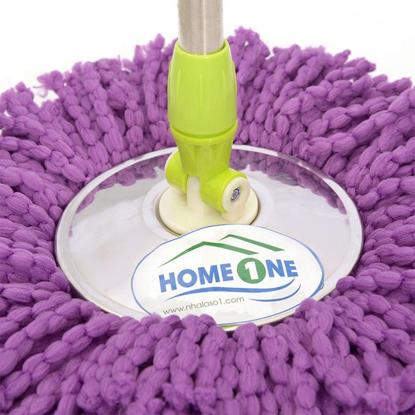 Cây lau nhà inox đặc HomeOne (Nhiều màu)-1