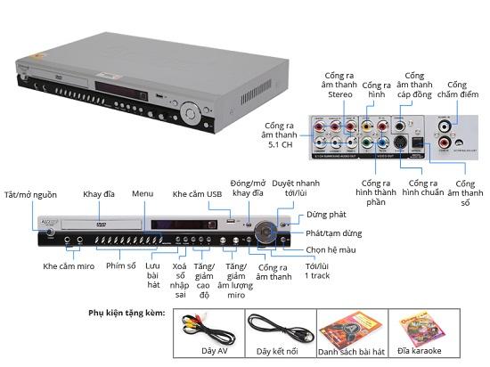 Mua Đầu DVD Karaoke Arirang AR-36M