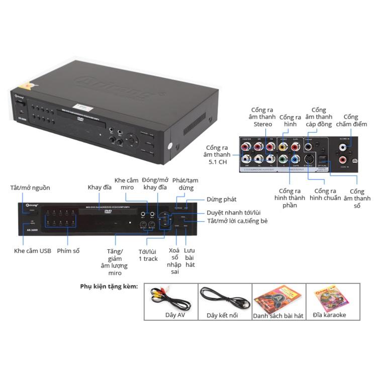 Đầu DVD Karaoke Arirang AR-36NR