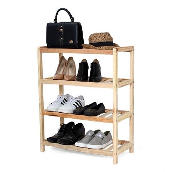 Kệ để giày khung gỗ đa năng 4 tầng Long Phú GH12