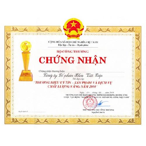 Chứng nhận Khóa Việt Tiệp