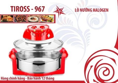 Lò nướng thủy tinh Tiross TS967 - Đỏ