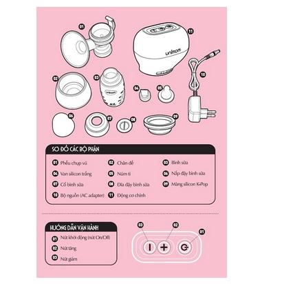 Máy hút sữa Unimom K-Pop -Eco UM871098