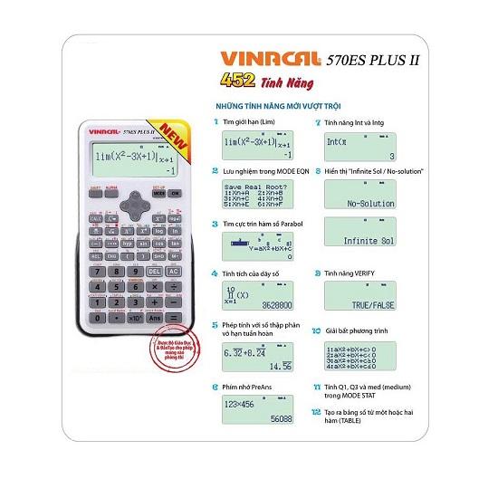 Bán máy tính Vinacal 570ES Plus II