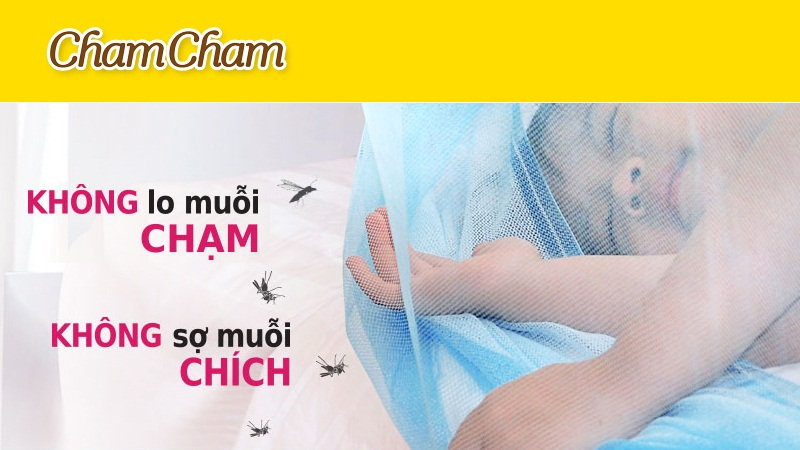 Mùng xua diệt muỗi ChamCham 1.4m