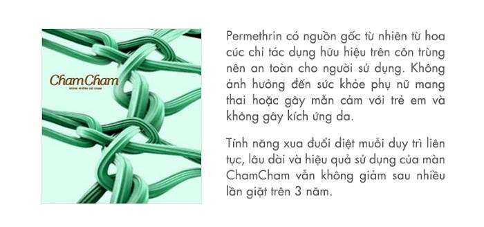 Mùng xua diệt muỗi ChamCham 1.8m