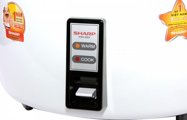 Nồi cơm điện Sharp KSH-555V (5.0L)
