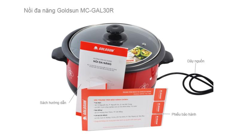 Nồi lẩu điện đa năng GOLDSUN MC-GAL30R