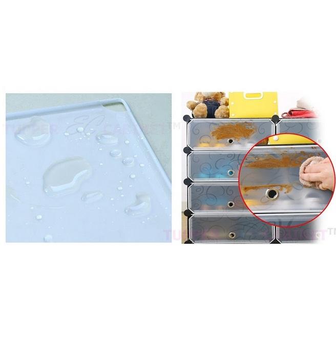 Tủ nhựa đa năng 2 ngăn Tupper Cabinet TC-2B-W (Đen phối trắng)