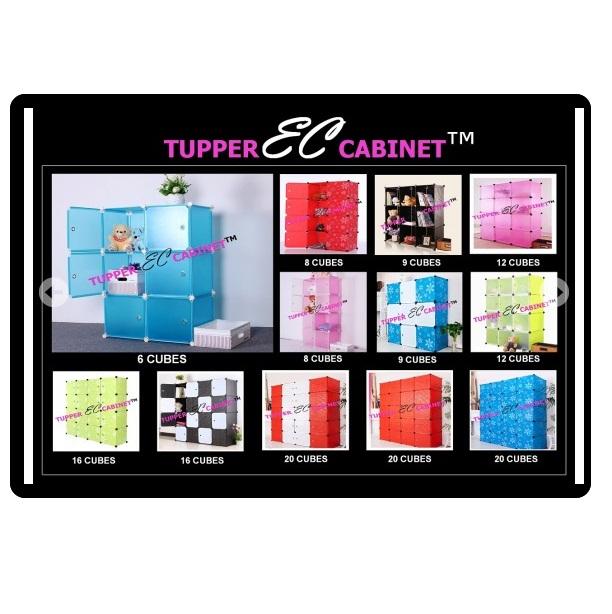 Tủ nhựa 4 ngăn Tupper Cabinet TC-4Y-W (Vàng cửa trắng)