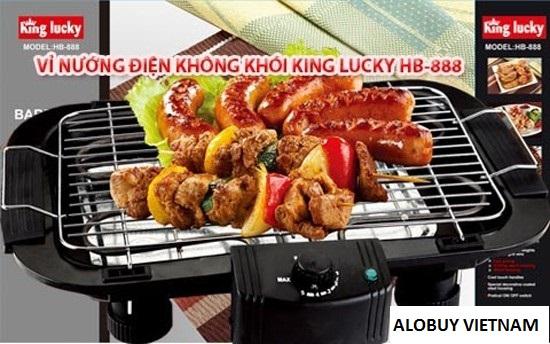 Vỉ nướng điện không khói King Lucky HB-888