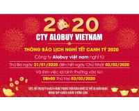 Thông báo lịch nghỉ tết Nguyên Đán Xuân Canh Tý 2020 ALOBUY Việt Nam