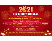 Thông báo lịch nghỉ tết Nguyên Đán Xuân Tân Sửu 2021 ALOBUY Việt Nam