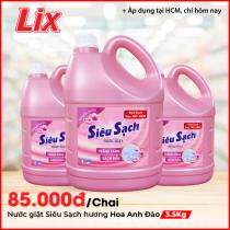 Nước giặt Lix hương hoa Anh Đào 3.5Kg - Tẩy sạch cực mạnh vết bẩn N2501