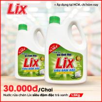 Nước rửa chén Lix siêu đậm đặc trà xanh 1.5Kg - NTX18