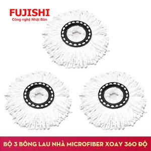 3 Bông lau sàn sợi MICROFIBER 360 độ Fujishi