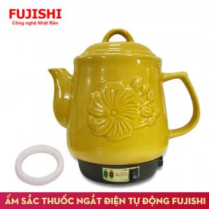 Ấm sắc thuốc điện GỐM BÁT TRÀNG Fujishi HK-268 (Vàng Gold)