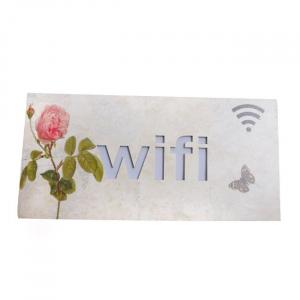 Bảng gỗ trang trí chữ WIFI có đèn WO.01-001