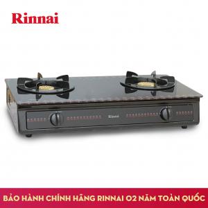Bếp gas 6 tấc Rinnai RV-3615GL(FB), Chén đồng mặt kính